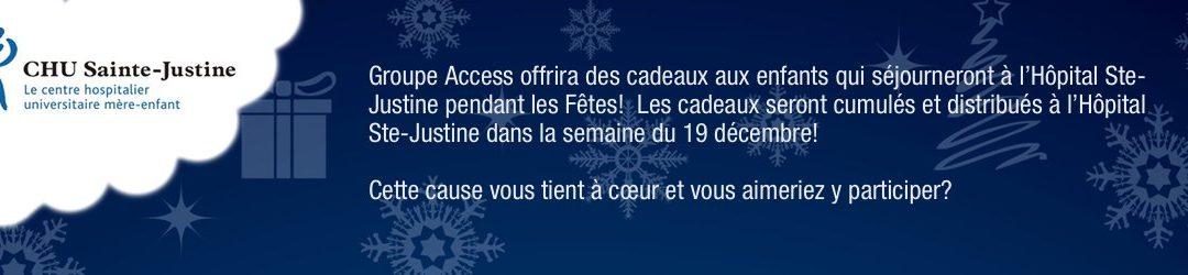 Campagne de Noël Hôpital Ste-Justine – Succès !